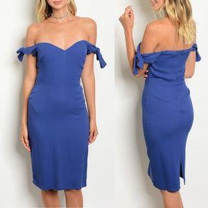Blue Off Shoulder Dress {Dance & Marvel}